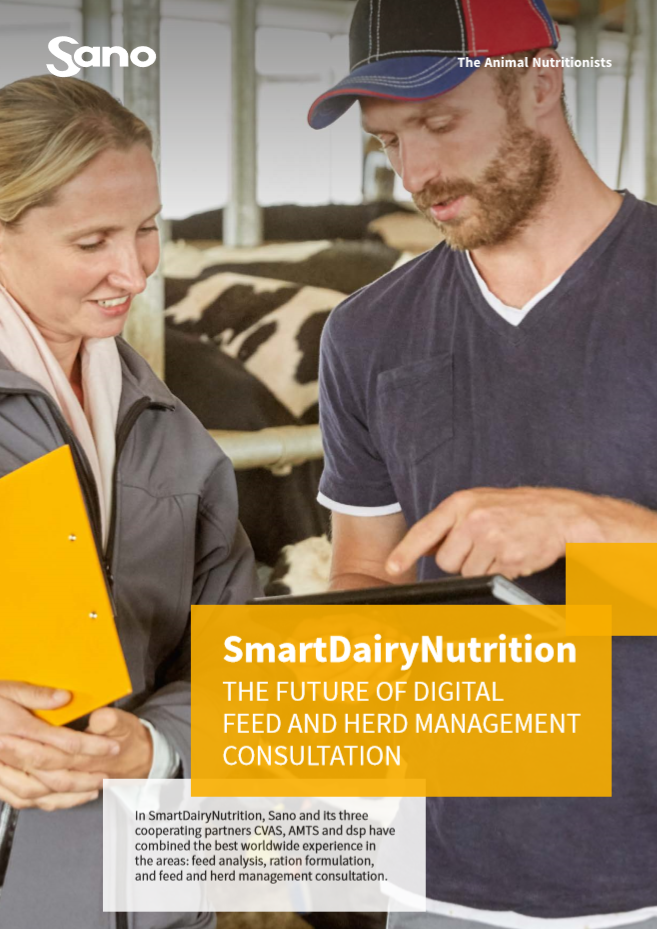 English Brochure cover - SmartDairyNutrition Sano / virtual herd management